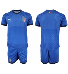 Italy Blank Home Soccer Country Jersey