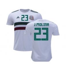 Mexico #23 J.Molina Away Soccer Country Jersey