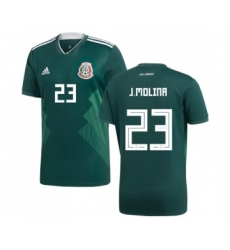 Mexico #23 J.Molina Green Home Soccer Country Jersey
