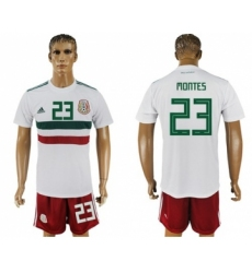 Mexico #23 Montes Away Soccer Country Jersey