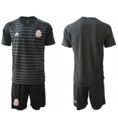 Mexico Blank Black Goalkeeper Soccer Country Jersey