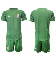 Mexico Blank Green Goalkeeper Soccer Country Jersey
