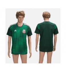 Mexico Blank Green Training Soccer Country Jersey