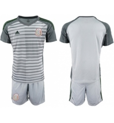 Mexico Blank Grey Goalkeeper Soccer Country Jersey