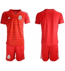 Mexico Blank Red Goalkeeper Soccer Country Jersey