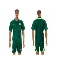Senegal Blank 2012 2013 Green Away Soccer Country Jersey