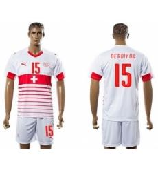 Switzerland #15 Derdiyok Away Soccer Country Jersey