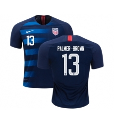 USA #13 Palmer-Brown Away Kid Soccer Country Jersey
