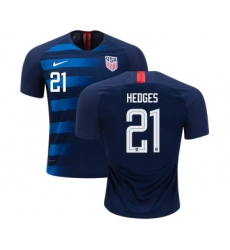 USA #21 Hedges Away Kid Soccer Country Jersey