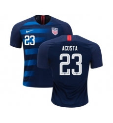 USA #23 Acosta Away Kid Soccer Country Jersey