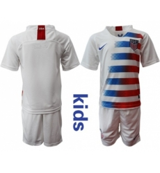 USA Blank Home Kid Soccer Country Jersey