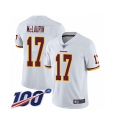 Men's Washington Redskins #17 Terry McLaurin White Vapor Untouchable Limited Player 100th Season Football Jersey