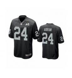 Women's Oakland Raiders #24 Johnathan Abram Game Black 60th Anniversary Team Color Football Jersey