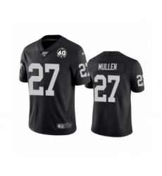 Women's Oakland Raiders #27 Trayvon Mullen Black 60th Anniversary Vapor Untouchable Limited Player 100th Season Football Jersey
