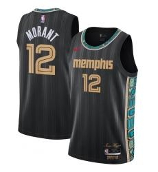 Youth Memphis Grizzlies #12 Ja Morant Nike Black 2020-21 Swingman Jersey
