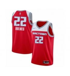 Men's Sacramento Kings #22 Richaun Holmes Swingman Red Basketball Jersey - 2019 20 City Edition