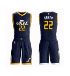 Women's Utah Jazz #22 Jeff Green Swingman Navy Blue Basketball Suit Jersey - Icon Edition
