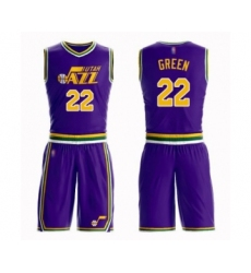 Women's Utah Jazz #22 Jeff Green Swingman Purple Basketball Suit Jersey