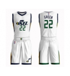 Women's Utah Jazz #22 Jeff Green Swingman White Basketball Suit Jersey - Association Edition