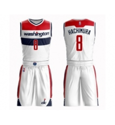 Women's Washington Wizards #8 Rui Hachimura Swingman White Basketball Suit Jersey - Association Edition