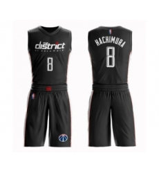 Youth Washington Wizards #8 Rui Hachimura Swingman Black Basketball Suit Jersey - City Edition