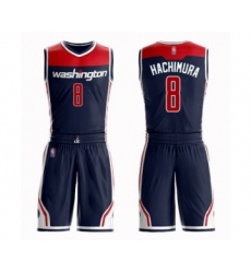 Youth Washington Wizards #8 Rui Hachimura Swingman Navy Blue Basketball Suit Jersey Statement Edition