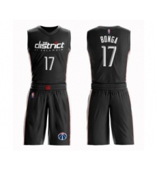 Women's Washington Wizards #17 Isaac Bonga Swingman Black Basketball Suit Jersey - City Edition