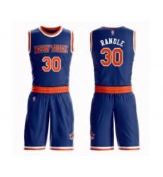 Men's New York Knicks #30 Julius Randle Swingman Royal Blue Basketball Suit Jersey - Icon Edition