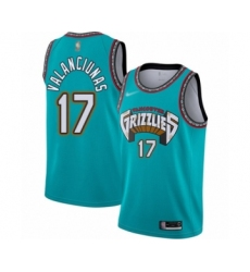 Men's Memphis Grizzlies #17 Jonas Valanciunas Authentic Green Hardwood Classic Basketball Jersey