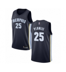 Women's Memphis Grizzlies #25 Miles Plumlee Authentic Navy Blue Basketball Jersey - Icon Edition