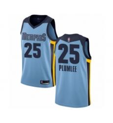 Youth Memphis Grizzlies #25 Miles Plumlee Swingman Light Blue Basketball Jersey Statement Edition
