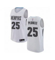 Youth Memphis Grizzlies #25 Miles Plumlee Swingman White Basketball Jersey - City Edition