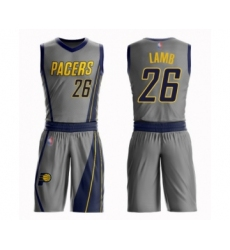 Youth Indiana Pacers #26 Jeremy Lamb Swingman Gray Basketball Suit Jersey - City Edition
