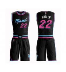 Women's Miami Heat #22 Jimmy Butler Swingman Black Basketball Suit Jersey - City Edition