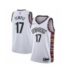 Men's Brooklyn Nets #17 Garrett Temple Swingman White Basketball Jersey - 2019 20 City Edition