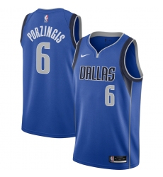 Men's Dallas Mavericks #6 Kristaps Porzingis Nike Blue 2020-21 Swingman Jersey