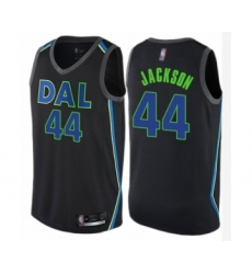 Men's Dallas Mavericks #44 Justin Jackson Authentic Black Basketball Jersey - City Edition