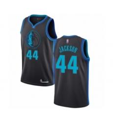 Men's Dallas Mavericks #44 Justin Jackson Authentic Charcoal Basketball Jersey - City Edition