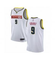 Men's Denver Nuggets #9 Jerami Grant Authentic White Basketball Jersey - Association Edition