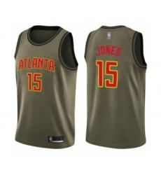 Men's Atlanta Hawks #15 Damian Jones Swingman Green Salute to Service Basketball Jersey