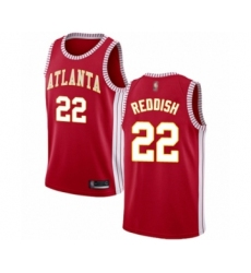 Men's Atlanta Hawks #22 Cam Reddish Authentic Red Basketball Jersey Statement Edition