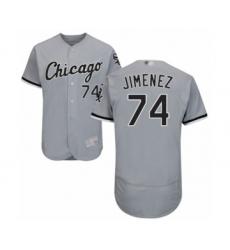 Men's Chicago White Sox #74 Eloy Jimenez Grey Road Flex Base Authentic Collection Baseball Jersey