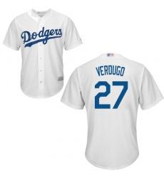 Men's Los Angeles Dodgers #27 Alex Verdugo White New Cool Base Stitched Baseball Jersey