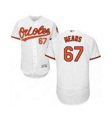 Men's Baltimore Orioles #67 John Means White Home Flex Base Authentic Collection Baseball Jersey