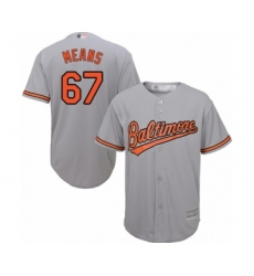 Youth Baltimore Orioles #67 John Means Authentic Grey Road Cool Base Baseball Jersey