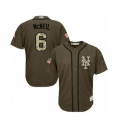 Men's New York Mets #6 Jeff McNeil Authentic Green Salute to Service Baseball Jersey