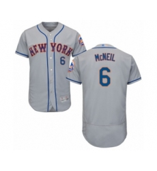 Men's New York Mets #6 Jeff McNeil Grey Road Flex Base Authentic Collection Baseball Jersey