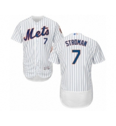 Men's New York Mets #7 Marcus Stroman White Home Flex Base Authentic Collection Baseball Jersey