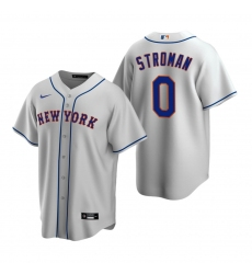 Men's Nike New York Mets #0 Marcus Stroman Gray Road Stitched Baseball Jersey