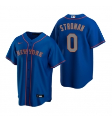 Men's Nike New York Mets #0 Marcus Stroman Royal Alternate Road Stitched Baseball Jersey